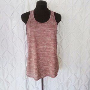 Maroon racer back workout tank top